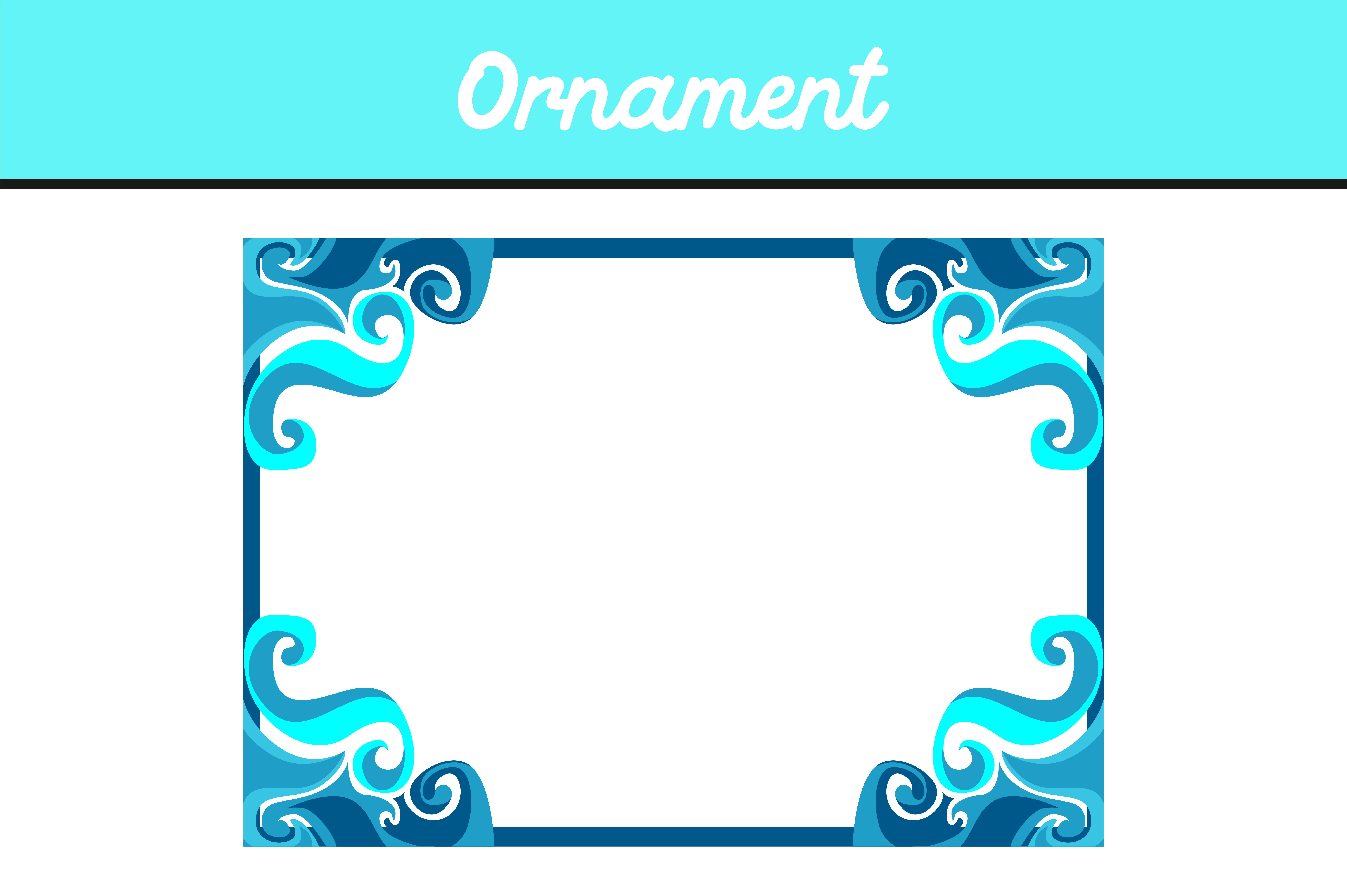 Download Free Blue Border Frame Ornament Vector Graphic By Arief Sapta Adjie for Cricut Explore, Silhouette and other cutting machines.