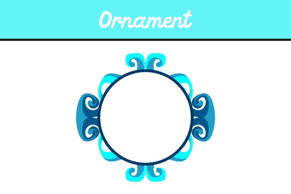 Download Free Blue Circle Frame Ornament Vector Graphic By Arief Sapta Adjie for Cricut Explore, Silhouette and other cutting machines.