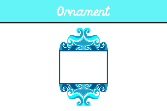 Blue Frame Ornament Vector Graphic By Arief Sapta Adjie
