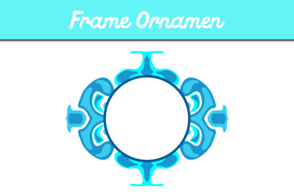 Print on Demand: Blue Frame Ornament Graphic Patterns By Arief Sapta Adjie II