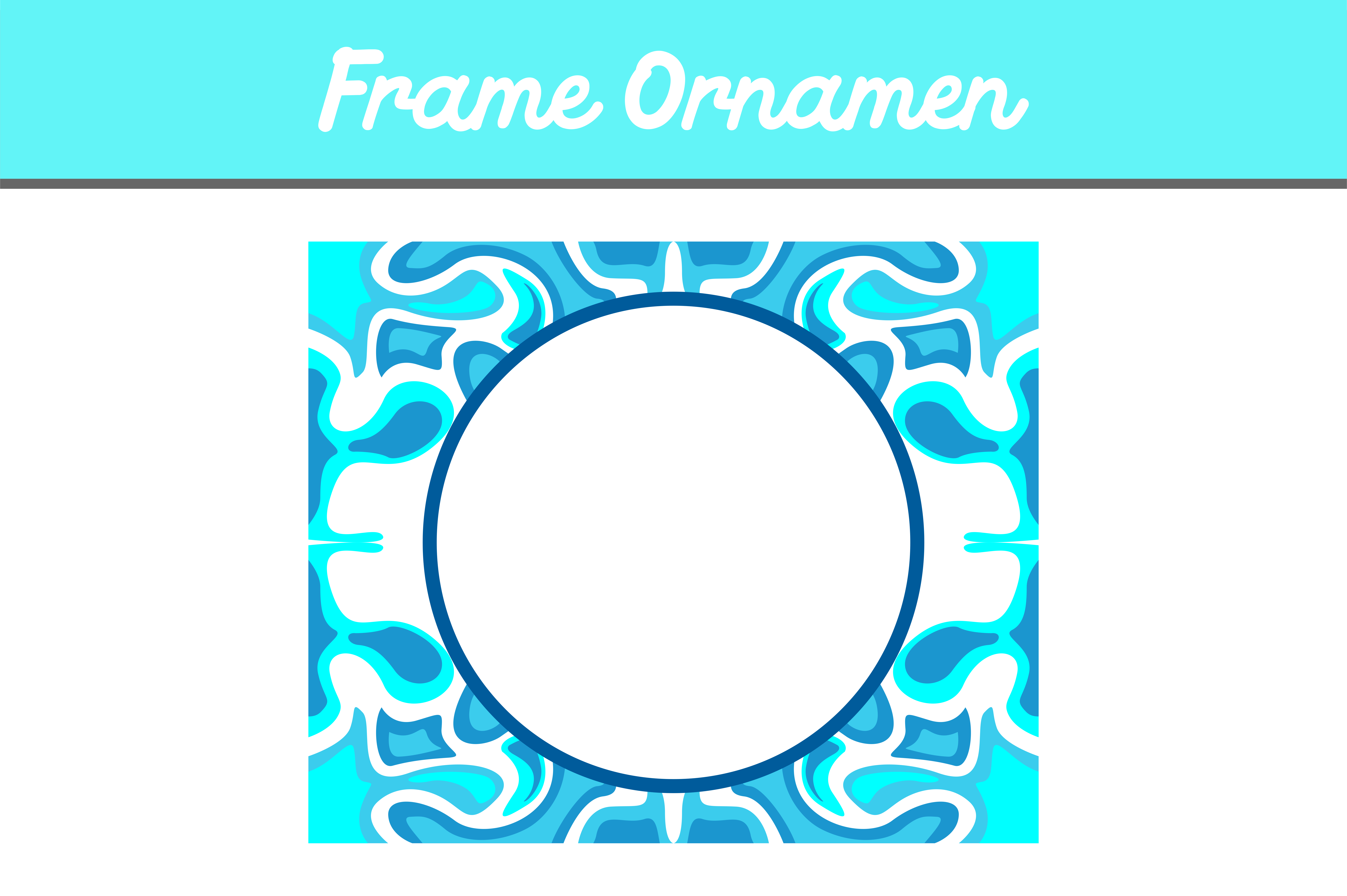 Download Free Blue Frame Ornament Graphic By Arief Sapta Adjie Ii Creative SVG Cut Files
