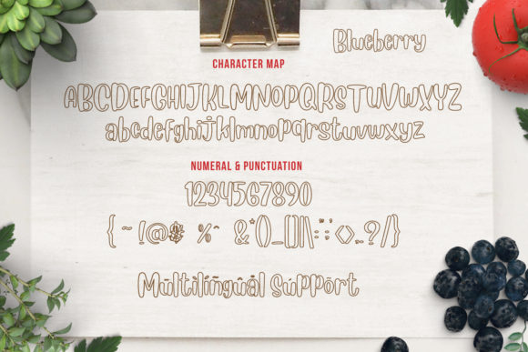 Blueberry Font By Din Studio Image 5