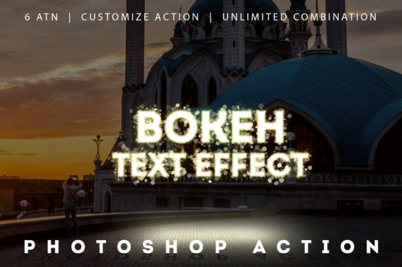 Bokeh Text Effect Photoshop Actions Graphic Actions & Presets By yantodesign