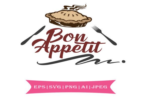 Print on Demand: Bon Appetit Farmhouse Style Svg Graphic Crafts By summersSVG - Image 1