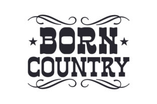 Born Country Cowgirl Craft Cut File By Creative Fabrica Crafts