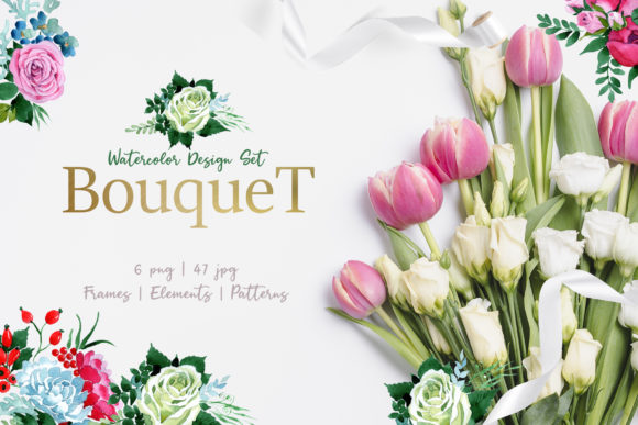 Print on Demand: Bouquet Pink Graphic Illustrations By MyStocks