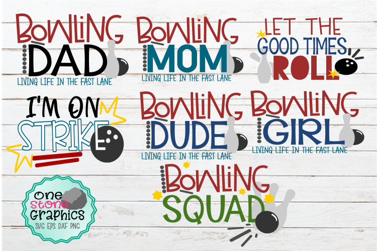 Download Free Bowling Bundle Graphic By Onestonegraphics Creative Fabrica for Cricut Explore, Silhouette and other cutting machines.