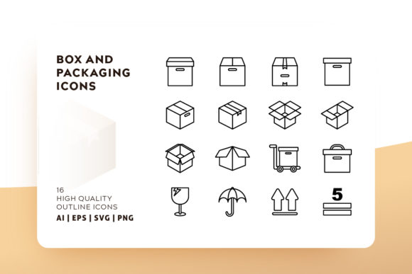 Print on Demand: Box and Packaging Icon Pack Graphic Icons By Goodware.Std