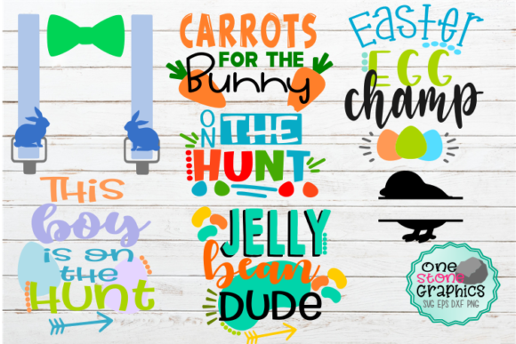 Boy Easter Bundle Svg Graphic Crafts By OneStoneGraphics