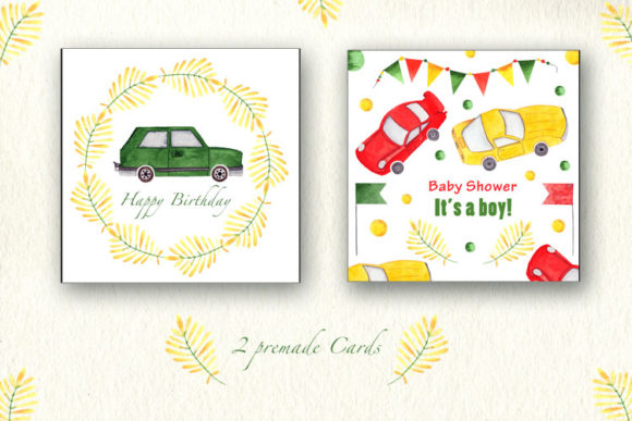 Print on Demand: Boy's Car Collection Graphic Illustrations By tanatadesign - Image 2