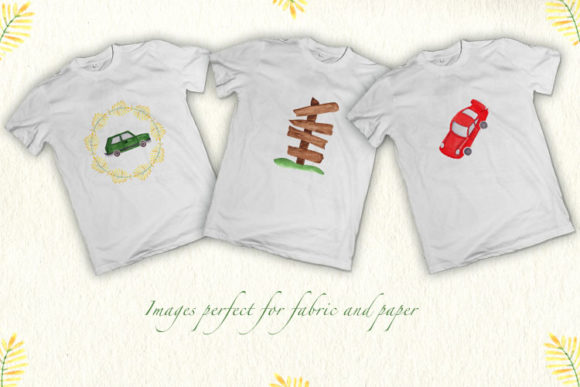 Print on Demand: Boy's Car Collection Graphic Illustrations By tanatadesign - Image 4