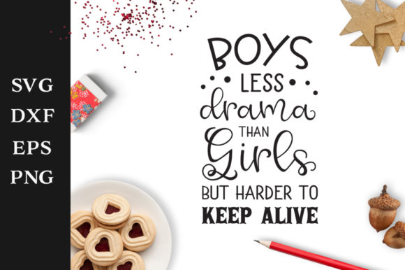 Print on Demand: Boys Quote Graphic Crafts By Nerd Mama Cut Files
