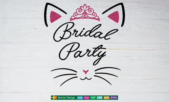 Download Free Bridal Party Graphic By Amitta Creative Fabrica for Cricut Explore, Silhouette and other cutting machines.