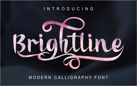 Print on Demand: Brightline Script & Handwritten Font By MJB Letters - Image 1