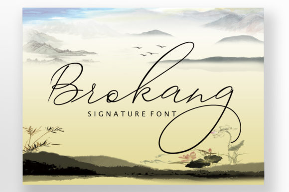 Print on Demand: Brokang Script & Handwritten Font By ayeelastudio