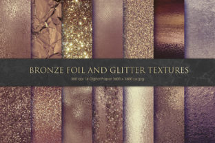 Brown Bronze Foil and Glitter Textures Graphic By artisssticcc