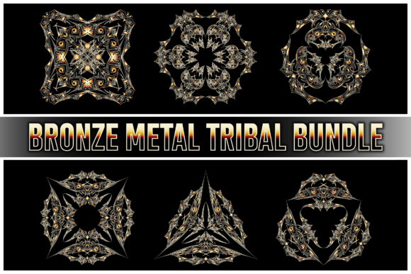 Bronze Metal Tribal Bundle Graphic Illustrations By blackkido597