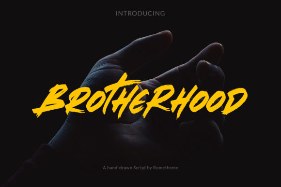 Print on Demand: Brotherhood Display Font By rometheme