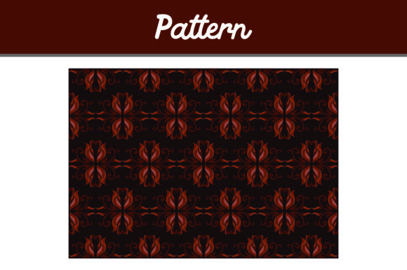 Brown Background Ornament Pattern Graphic By Arief Sapta Adjie II Image 1