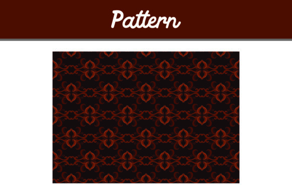 Brown Background Ornament Pattern