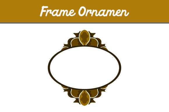 Brown Frame Ornament Graphic