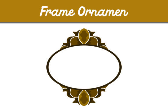 Print on Demand: Brown Frame Ornament Graphic Patterns By Arief Sapta Adjie II