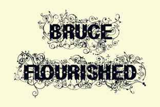 Bruce Flourished Font By Intellecta Design