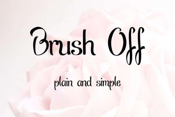 Print on Demand: Brush off Script & Handwritten Font By thorchristopherarisland