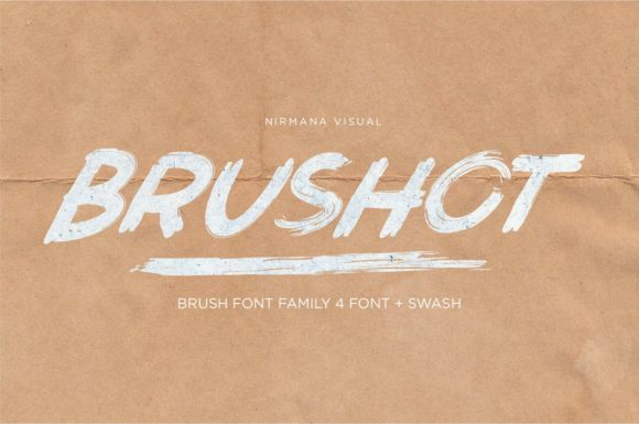 Print on Demand: Brushot Family Display Font By Sigit Dwipa