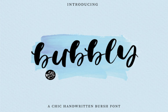 Print on Demand: Bubbly Script & Handwritten Font By PaulaType