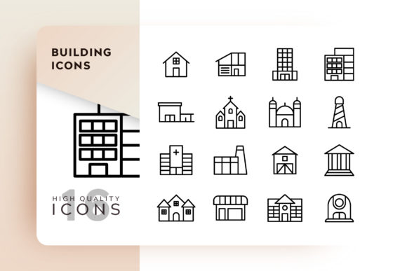 Building Icons Pack Graphic Icons By Goodware.Std