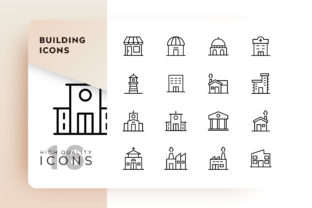 Bulding Icon Pack Graphic By Goodware.Std