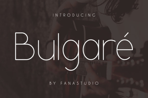 Print on Demand: Bulgare Sans Serif Font By fanastudio