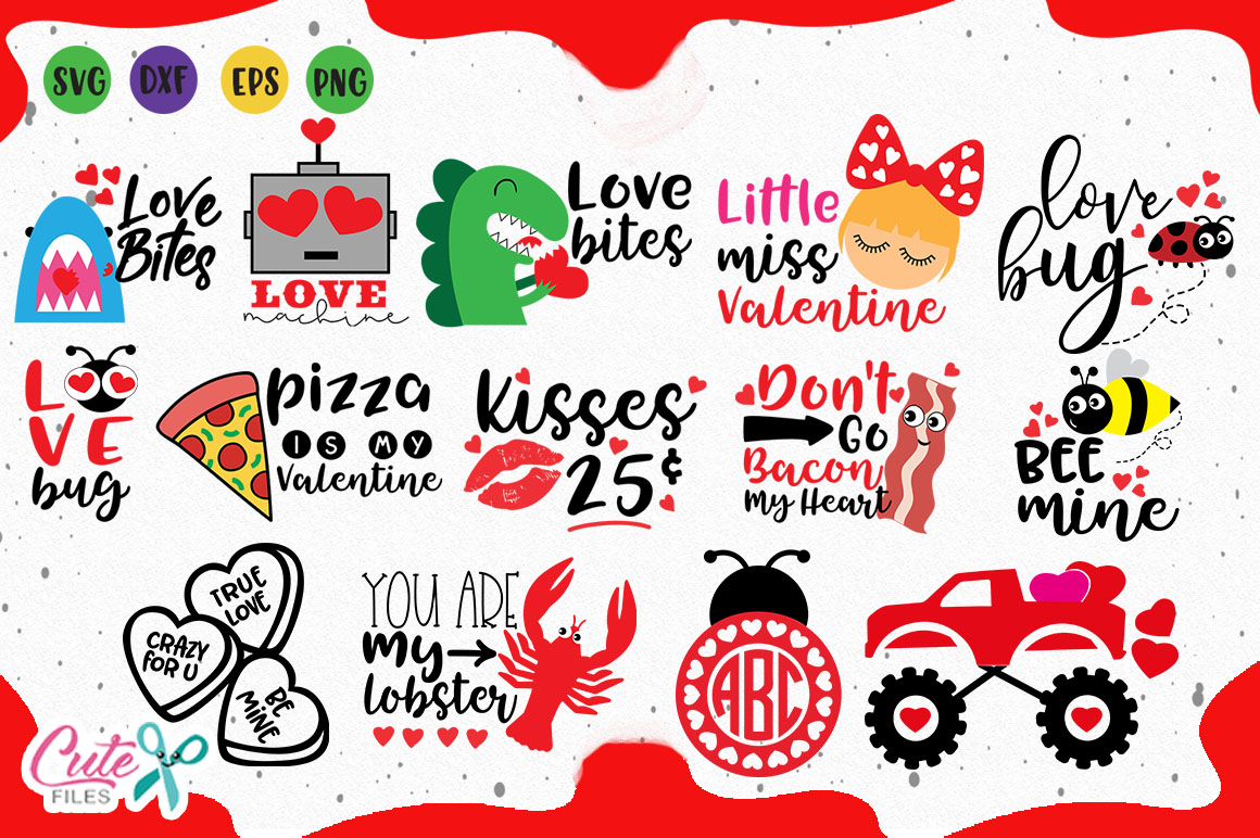 Download Free Bundle Valentine S Day Quotes Graphic By Cute Files Creative for Cricut Explore, Silhouette and other cutting machines.
