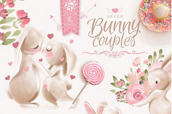 Bunnies in Love Graphic By Anna Babich Image 2