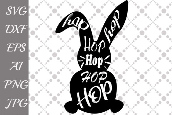 Download Free Bunny Hop Hop Graphic By Prettydesignstudio Creative Fabrica for Cricut Explore, Silhouette and other cutting machines.
