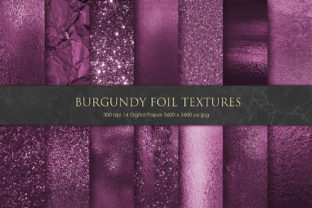 Bold Burgundy Foil and Glitter Textures Graphic By artisssticcc