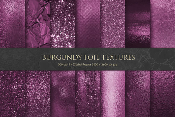 Bold Burgundy Foil and Glitter Textures Graphic Backgrounds By Creative Paper