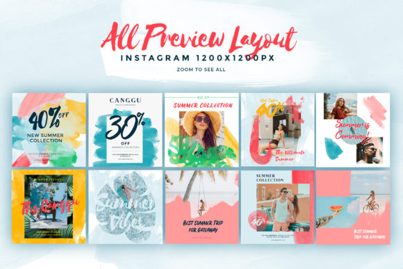Download Free Canggu Social Media Pack Templates Graphic By Invasistudio for Cricut Explore, Silhouette and other cutting machines.