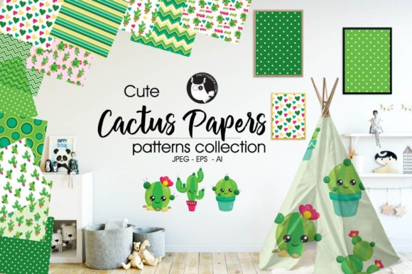 Print on Demand: Cactus Papers Graphic Patterns By Prettygrafik