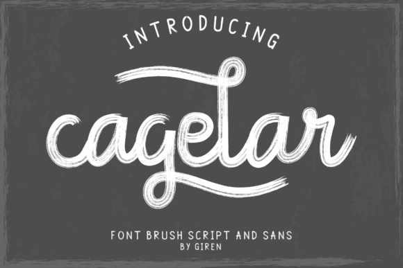 Print on Demand: Cagelar Script & Handwritten Font By blackkido597