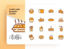 Download Free Cake And Bakery Icon Pack Graphic By Goodware Std Creative Fabrica for Cricut Explore, Silhouette and other cutting machines.