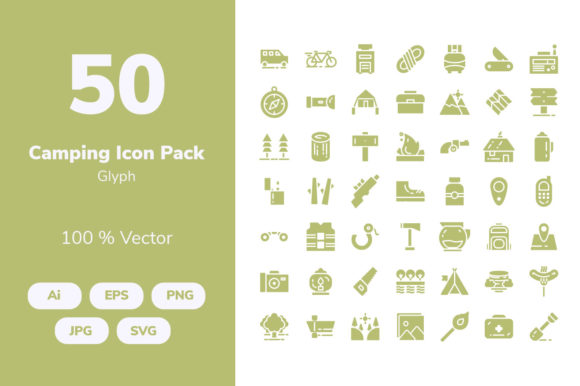 Download Free Camping Icons Graphic By Icon Stale Creative Fabrica for Cricut Explore, Silhouette and other cutting machines.