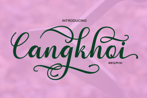 Print on Demand: Cangkhoi Script Script & Handwritten Font By bbakey