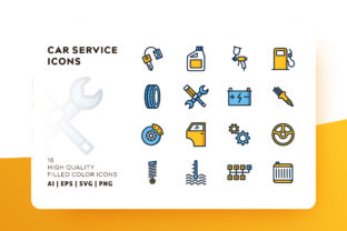 Car Service Icon Pack Graphic By Goodware.Std