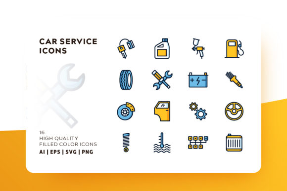 Car Service Icon Pack Graphic Icons By Goodware.Std - Image 1