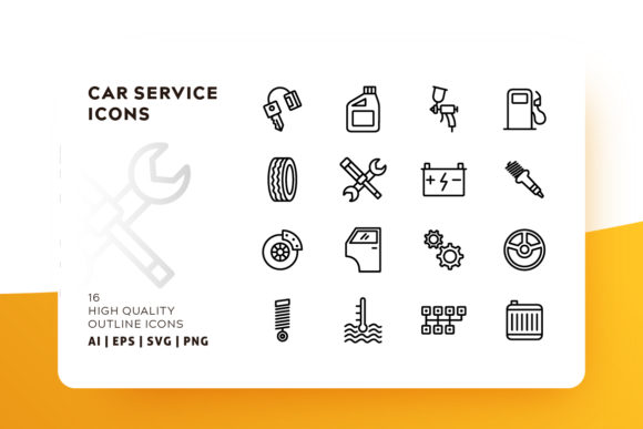 Print on Demand: Car Services Icon Pack Graphic Icons By Goodware.Std