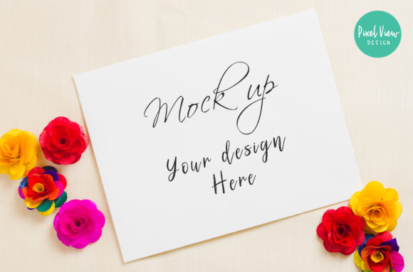 Print on Demand: Card Mockup, Styled Stock Photo Graphic Product Mockups By Pixel View Design