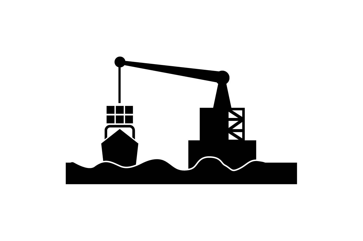 Download Free Cargo Container Dock Black Icon Eps 10 Vector Graphic By for Cricut Explore, Silhouette and other cutting machines.