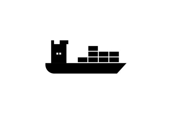Download Free Cargo Shipping Black Icon Vector Graphic By Hoeda80 Creative Fabrica SVG Cut Files